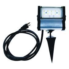 commercial electric led spike light 500 lumens ace plug in led spike light black 1 pk sfl 182 sjt 2 landscape