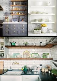 kitchen open shelves ideas open shelving in kitchen ideas kitchen white build a open