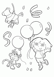 coloring pages endearing dora the explorer thanksgiving coloring