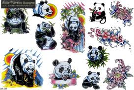 best panda bear tattoo designs real photo pictures images and