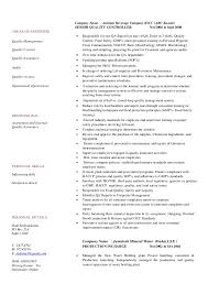 Quality Control Manager Resume Sample by Cv Food Safety Complaince Manager Quality Assurance Rev