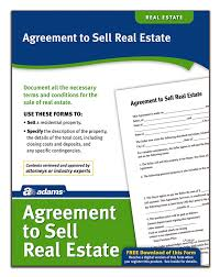 Real Estate Purchase And Sale Agreement Template by Amazon Com Adams Agreement To Sell Real Estate Forms And