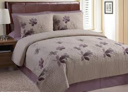 Luxury Bedding Sets Clearance Clearance 3pc Brianna Plum Taupe Luxury Quilt Set