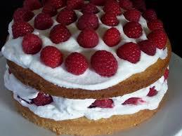 classic sponge cake with raspberries and cream filling recipe