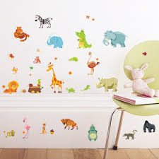 compare prices on jungle wall stickers online shopping buy low jungle animals wall stickers for kids rooms safari nursery rooms baby home decor poster monkey