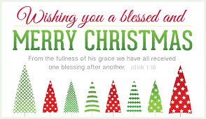 wishing you a blessed and merry from the fullness of