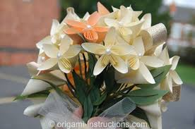 wedding flower bouquet origami wedding origami for your special day