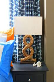 120 best boys rooms images on pinterest nautical boy rooms nautical boys room modern beach theme rope lamp on navy painted nightstands