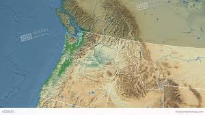 Washington State Detailed Map Stock by Washington State Usa Extruded Physical Map Stock Animation
