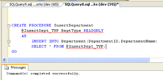 t sql insert into new table sql server 2008 introduction to table valued parameters with
