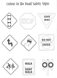 traffic sign coloring pages funycoloring
