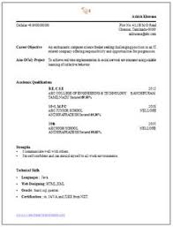 resume exles free resume template of a computer science engineer fresher with great