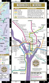 Metro Rail Dc Map by Streetwise Washington Dc Map Laminated City Center Street Map Of