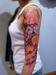 floral tattoo quarter sleeve 45 awesome half sleeve tattoo designs 2017