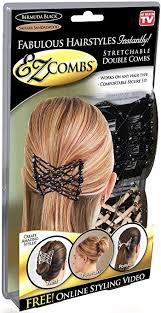 ez combs stretchable combs bermuda black