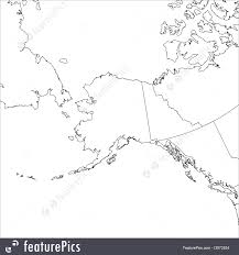 Alaska Map by Signs And Info Blank Alaska Map Stock Illustration I2972524 At