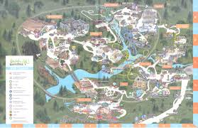 Williamsburg Virginia Map by Busch Gardens Williamsburg 2016 Park Map