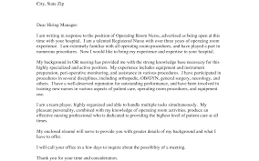 Cover Letter For Rn Operating Room Nurse Cover Letter Gallery Cover Letter Ideas
