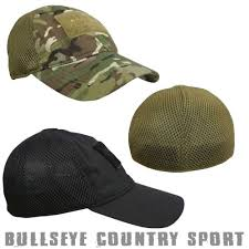 kombat mesh baseball hat cap with velcro panels airsoft army style