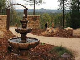 download water fountain backyard garden design