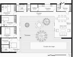 plan de maison 4 chambres plain pied plan maison plain pied 4 chambres avec suite parentale génial plan