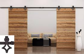 Barn Door Sliding Door by 12ft Dark Coffee Country Barn Double Wood Steel Sliding Door