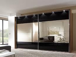 Single Mirror Closet Door Stunning Mirrored Sliding Door Wardrobe Designs For Bedroom