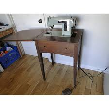 Vintage Singer Sewing Machine Cabinet Old Sears Kenmore Sewing Machine W Wooden Cabinet Shop Your Way