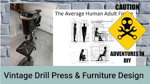 craftsman 150 drill press and standard furniture dimensions youtube