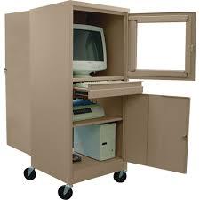 Movable Computer Desk Sandusky Lee Steel Mobile Computer Security Workstation U2014 For Crt