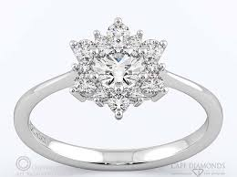snowflake engagement ring 74 snowflake designed halo engagement ring cape diamonds