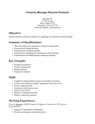 Qa Manager Resume Summary Sample Property Manager Resume Resume For Your Job Application