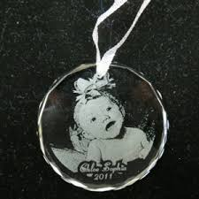 our photo engraved ornament the