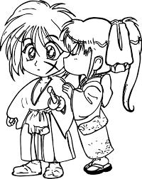 gl smurf kiss smurf coloring page elmo zoe kiss coloring