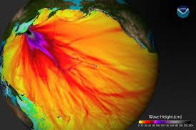 massive japan tsunami topped 130 feet