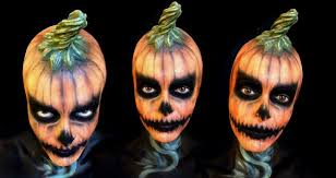 halloween pumpkin make up youtube