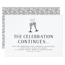 wedding party invitations post wedding reception invitations announcements zazzle co uk with