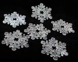 4 hallmark acrylic glitter snowflake ornaments set of 6
