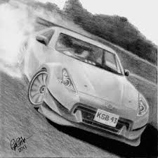 nissan 350z drawing nissan cars drawings fine art america