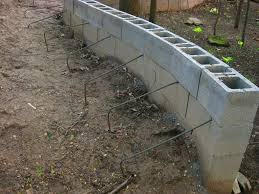 home design cinder block retaining wall drainage small kitchen