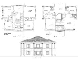 floor plans for duplexes 2 residential homes and public designs mrs ifeoma 4 bedroom duplex