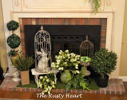 ideas for fireplace mantel decorating spring spring mantel