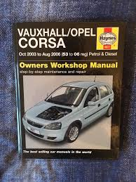 vauxhall corsa c oct 2003 to aug 2006 53 to 06 reg haynes owners