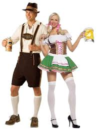 Prisoners Halloween Costumes Oktoberfest Beer Couple Bartenders Maid Halloween Costume Party