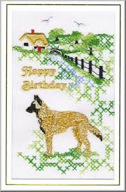 belgian sheepdog uk belgian shepherd dog birthday card embroidered by dogmania 8 x6 g5661