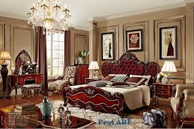 red bedroom furniture luxury italian style red solid wood carving bedroom furniture set