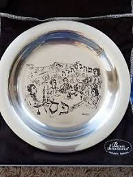 passover plates sterling silver passover plates 2 pesach by chaim gross 1100