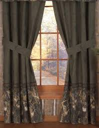 Curtain Valance Rod Amazon Com Browning Whitetails Rod Pocket Curtains 42 X 84