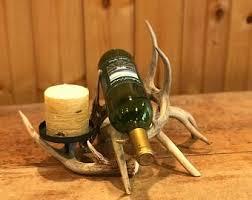 antler wine rack etsy