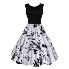 midi dress wholesale vintage floral print midi dress xl black online cheap